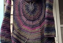 Crochet Cardigans, Sweaters,Vests and Ponchos