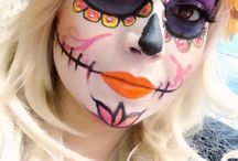 sugar skull (make-up) / by Linda van den Bos