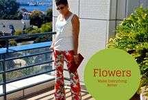 Floral prints Pants B6066 / Flowers here there flowers every where!