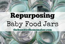 Projects- Jars and glass / Mason jars, baby food jars, and any other glass projects!