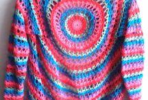 Crochet sixes / CROCHET saco tejido a mano.