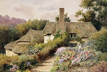 Thatched cottages & Paintings