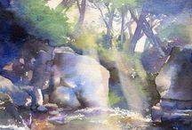 Water in watercolor