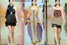 Just Cavalli / Just Cavalli collezione e catalogo primavera estate e autunno inverno abiti abbigliamento accessori scarpe borse sfilata donna.