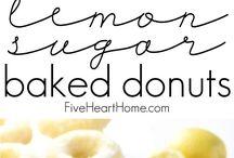 citronové pečené donuty