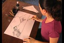 Dibujo con cañas