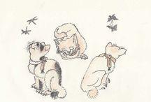 chats d'après Hokusaî
