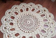 My knitting / полиэфирный шнур, carpets, вязаные ковры, ковры