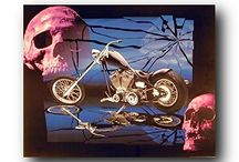 Motorcycle Wall Decor Art Print Posters