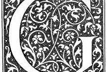 Font design + Capital Initials