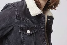denim sheepskin ...