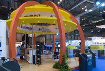 Stands de Medio Ambiente / Diseño y realización de stands para Sanimobel y FCC por COOC Alternativa de Diseño. Pregúntanos por el tuyo en www.alternativa.es/contacto