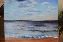 La mer / peinture à l'huile