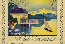 Vintage travel posters / countries, hotels, famous places, roads and etc