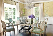 Delicious Dining Rooms / Stunning dining rooms featuring traditional decor and chinoiserie.