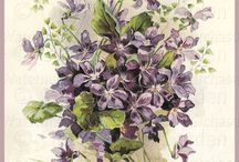 Çiçek demetleri sulu boya
