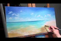 pittura con acrilici