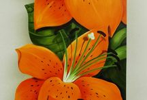 Lírios laranja
