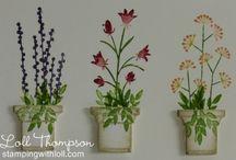 Flower/Garden Pots (Memory Box)