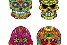 Dia de los muertos - Sugar skulls