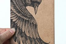 brown paper drawings