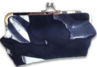 Clutch Bags / Hand painted silk party clutch handcrafted in The Netherlands