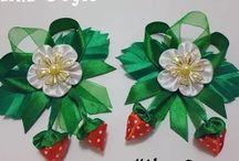 канзаши, из ткани цветы