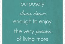 Simple Living Ideas / Be intentional about your life. Ideas and help for simplifying and living a life you love.
