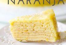 Torta de  Panqueque de  Naranja