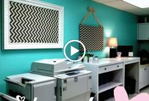 Classroom Makeovers and Decor / Ugly workspaces don't equal happy teachers..... I took 3 days of summer to redo our teacher copy room.