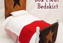 "Doll Stuff Bedrooms / Doll Stuff by Jana bedroom furniture & accessories for 18"" dolls"