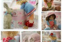 On Etsy / Original doll and animal knitting patterns...
