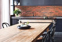 kitchen grey with wooden