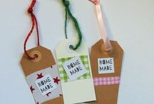 Handmade tags, ideas for tags, how to make a tag, tag for homemade presents,