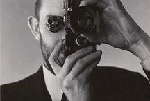 People with camera's / Studiosetting photo's of random people using vintage camera's
