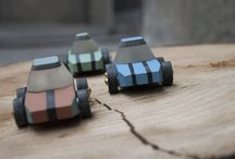NIKI - Concrete Toy Car / Niki is a toy made of concrete and resin