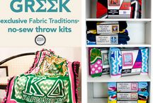 Greek / We're now part of the Greek Official License!  So excited to introduce Greek No Sew Throws available at Jo-Ann Fabric & Craft Stores