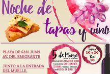 Ferias gastronómicas de Tenerife / Ferias y rutas de gastronomía en los municipios de Tenerife; muestras, degustaciones de vino y tapas y platos típicos de la cocina canaria.