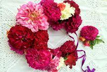 Wianek ślubny w stylu boho / Wianek ślubny żywe kwiaty