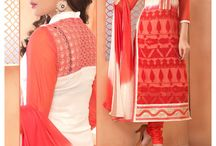 """Buy Chiffon Suits in Pastel Colours @Rs1499 / Don't miss the fabulous deal offering you the """"Chiffon Suits"""" at very reasonable price of Rs1499. Cash On Delivery is available and shipping is free all over India."""