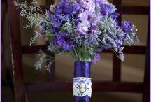 violet, purple and blue flower