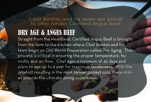 BEHIND THE KNIFE with Chef Benton / Get a look inside the kitchen on the amazing new ingredients and processes Chef Benton has starting.  He's proudly serving farm-raised and sustainable beef and seafood and we want you to be the first to see how!