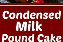 condensed milk pounds cake