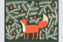Christmas screen prints
