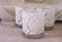 DIY Lace Candle