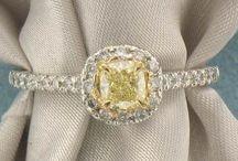GIA Fancy Yellow Diamond Rings