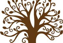 scancut automne et arbres / fruits d'automne, feuilles, arbres