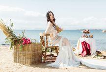 Boho styled wedding photo shoot