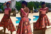 Beautiful African skirt style