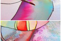 Pintura en seda - Inspiración